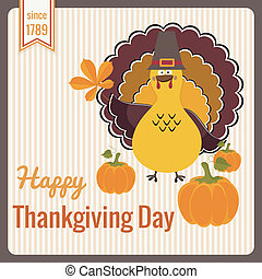Thanksgiving Day vintage card.