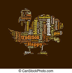 Thanksgiving day word cloud