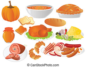 thanksgiving dinner - different food for thanksgiving day