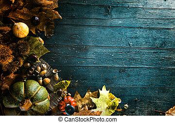 Thanksgiving dinner setting - Thanksgiving dinner. Autumn...