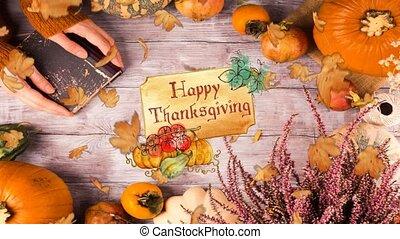 thanksgiving, ensemble, vert, boucle, virtuel, 07-, fond, ...