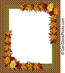 Thanksgiving Fall Autumn Border - Image and Illustration...