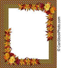 Thanksgiving Fall Autumn Border