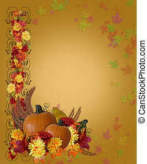 Thanksgiving Fall Autumn Border - Image and Illustration ...