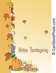 thanksgiving, feuillage