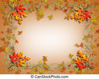 thanksgiving, feuilles autome