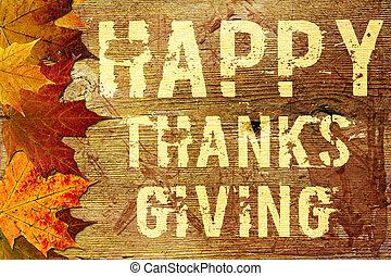thanksgiving, fond, heureux