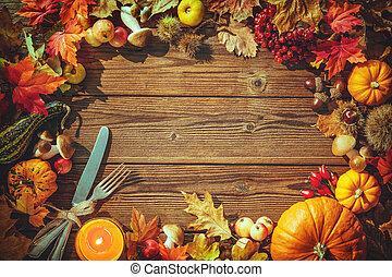 thanksgiving, fond, jour