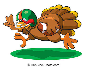 Thanksgiving Football Turkey - A vector illustration of a...