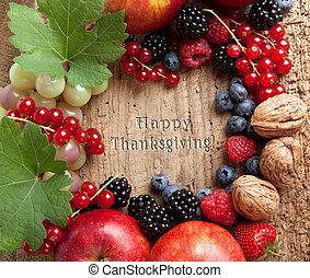 Thanksgiving fruit border