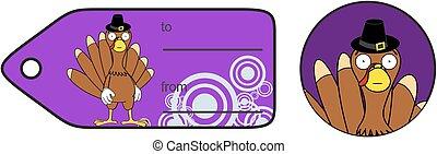 thanksgiving funny turkey cartoon giftcard2 - thanksgiving...