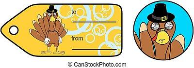 thanksgiving funny turkey cartoon giftcard5 - thanksgiving...