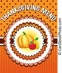thanksgiving, gabarit menu