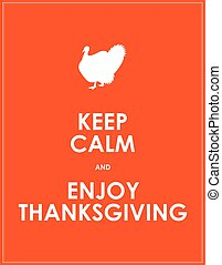 thanksgiving, garder, calme, bannière, jour, spécial