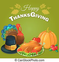 Thanksgiving greeting background