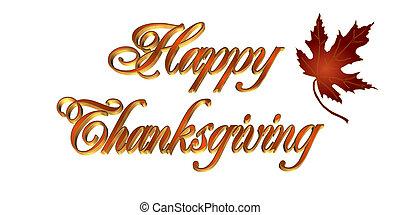 Thanksgiving Greeting card 3D text - Illustration...