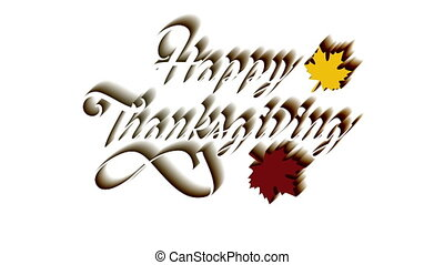 Thanksgiving greeting card with Happy Thanksgiving lettering...