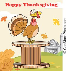 Thanksgiving Greeting With Turkey