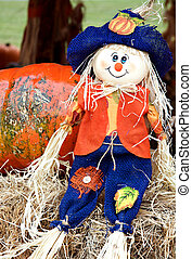 Thanksgiving Halloween Fall Straw Doll - A straw doll made...