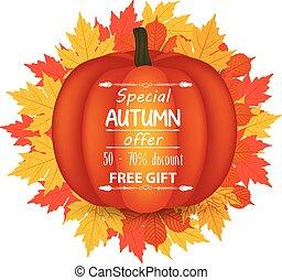 Thanksgiving. happy autumn pumpkin