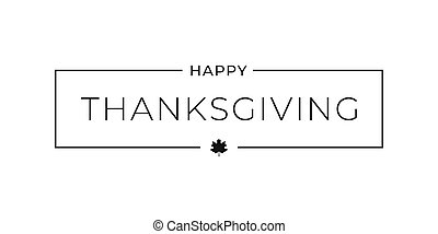 Thanksgiving happy border card on white background