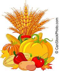 Thanksgiving / harvest design - Seasonal design with plump...