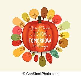 thanksgiving., herfst, achtergrond