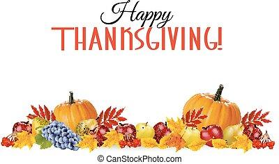 thanksgiving, heureux, arrière-plan.