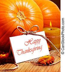 Thanksgiving holiday card - Thanksgiving holiday, pumpkin...