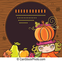 Thanksgiving holiday frame 12