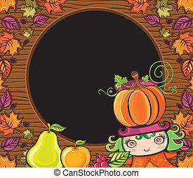 Thanksgiving holiday frame 15