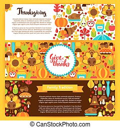 Thanksgiving Horizontal Banners