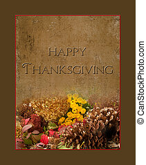 Thanksgiving image/card/print with texture including...