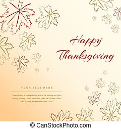 Thanksgiving Leaves Design Background