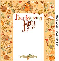 Thanksgiving menu card