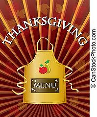 thanksgiving, menu