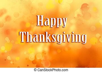 Thanksgiving orange background