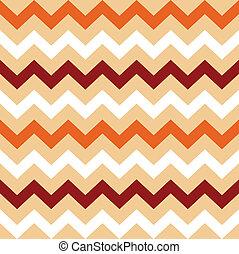 Thanksgiving Orange, White and Brown seamless Chevron...