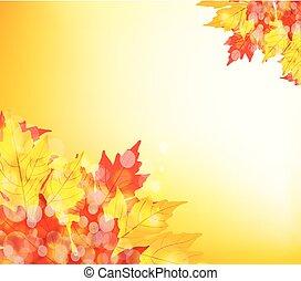thanksgiving., outono sai, fundo, feliz