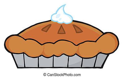 Thanksgiving Pie - Fresh Pumpkin Pie With Whipped Cream On...