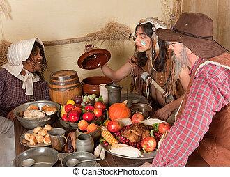 Thanksgiving pilgrim dinner