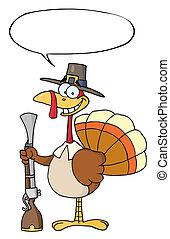 Thanksgiving Pilgrim Turkey Bird