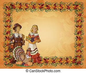 Thanksgiving  Pilgrims Border