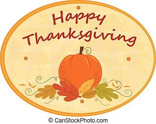 Thanksgiving Pumpkin Sign