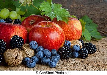 thanksgiving, récolte, nature morte