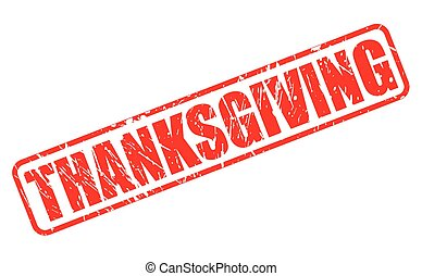 Thanksgiving red stamp text