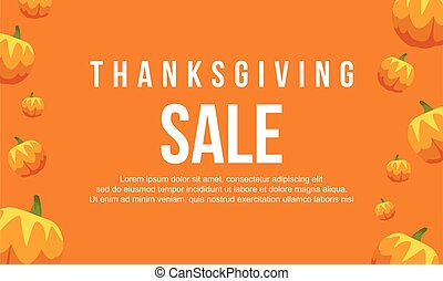Thanksgiving sale on orange background