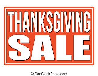 Thanksgiving Sale stamp