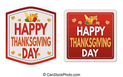 Thanksgiving Sale stickers set