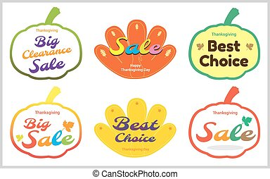 Thanksgiving sale tag banner label sticker in vector